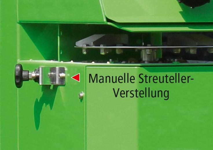 Manuelle Streuteller-Verstellung