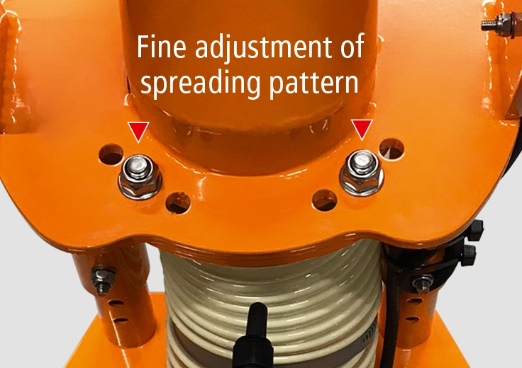 Adjustable spreading pattern