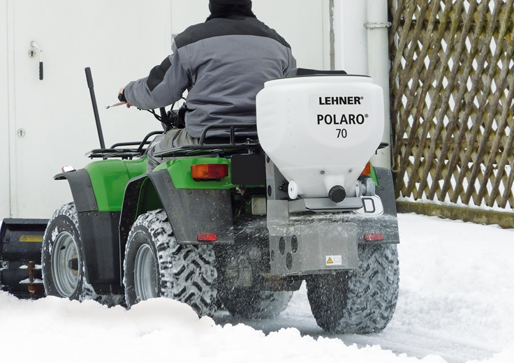 POLARO® 70 with rear attachment easily mounted on ATV/Quad when needed